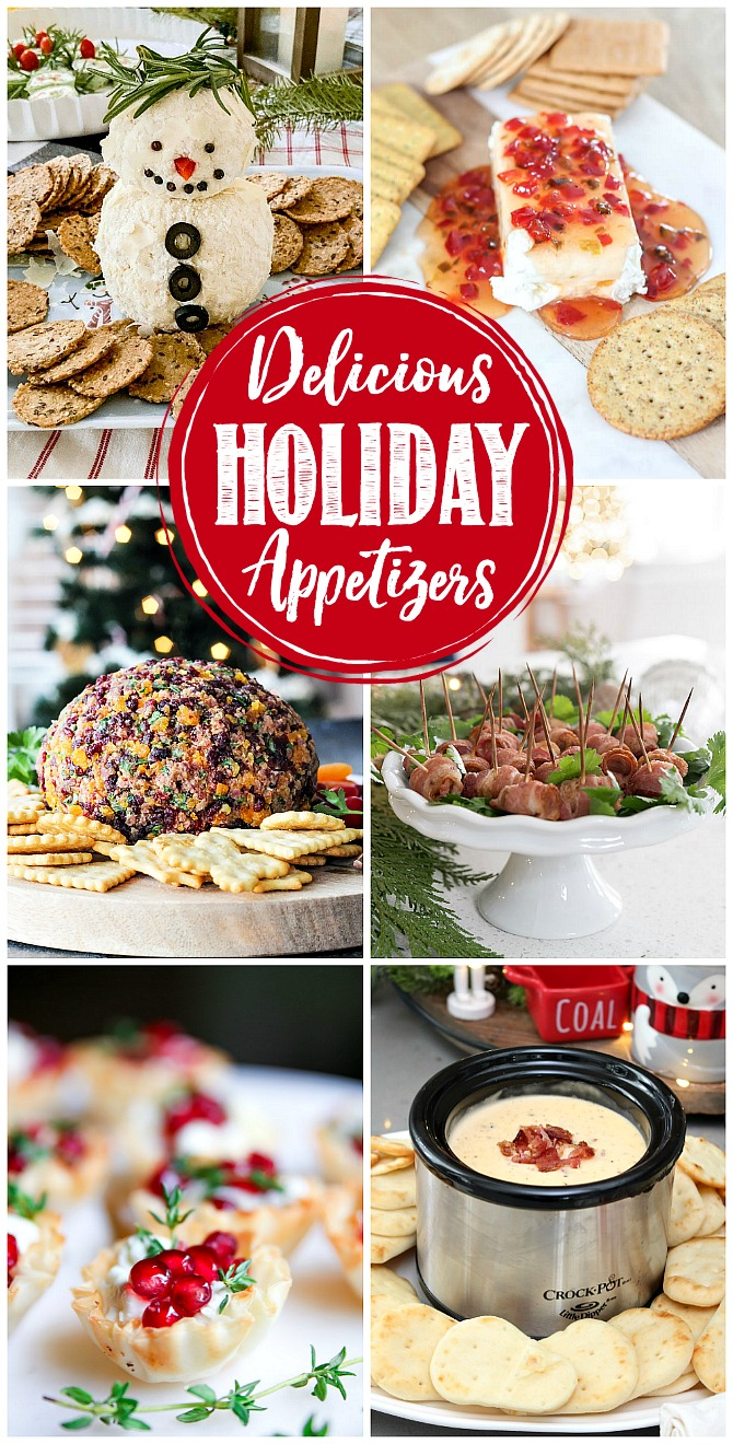 Collection of delicious holiday appetizers.