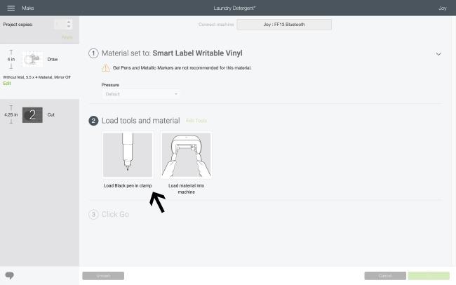 DIY laundry labels tutorial for Cricut Joy.