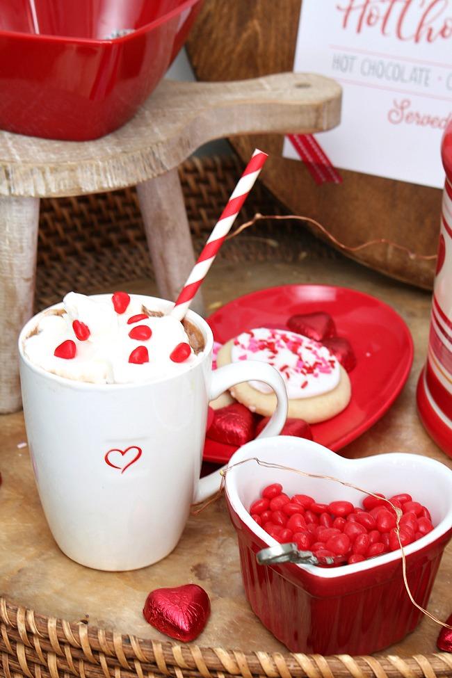 Valentine's day hot chocolate bar ideas.