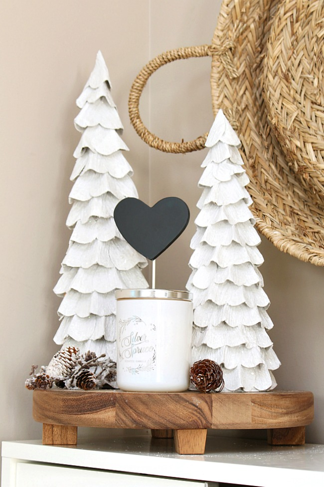 Black and white Valentine's Day decor.