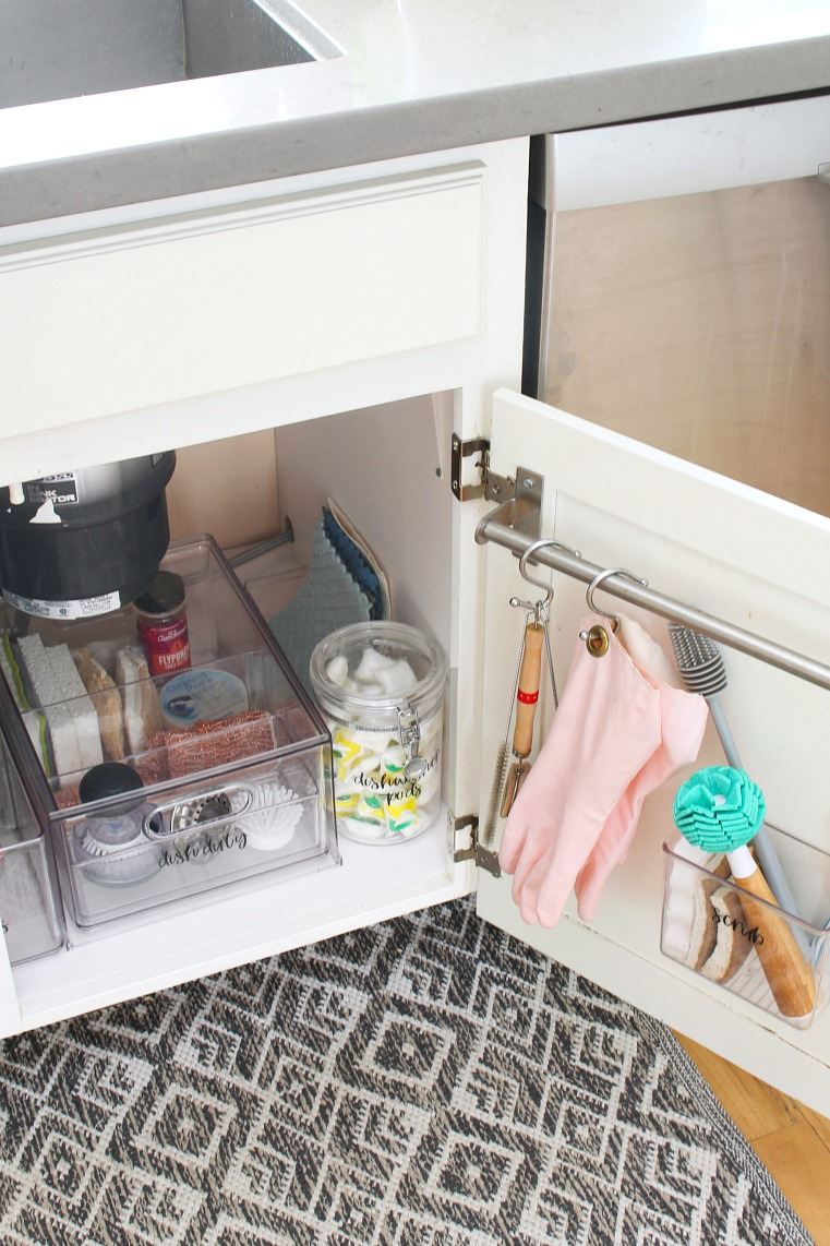 Acrylic under the sink organizers.