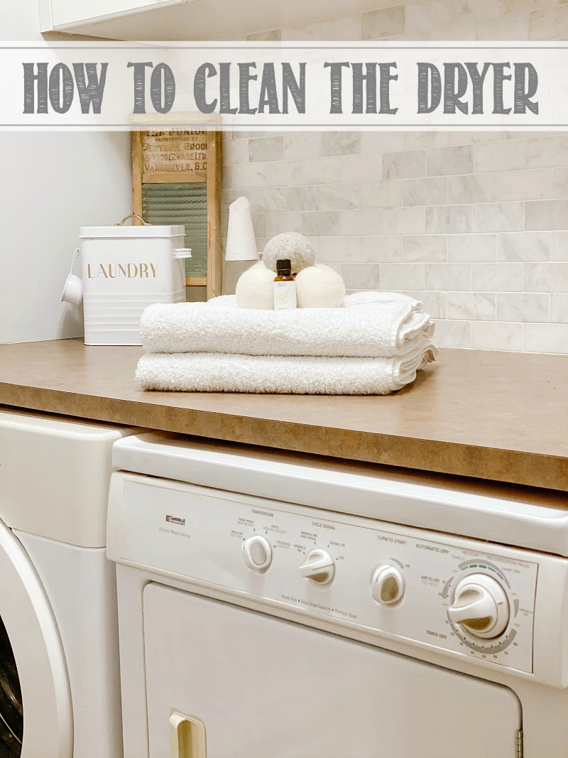 Laundry room with clean dryer.