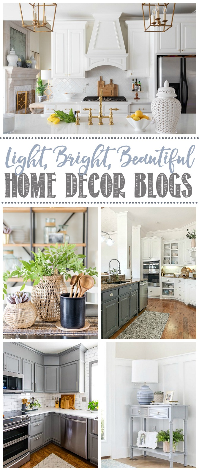 Light, bright, and beautiful home decor blogs.
