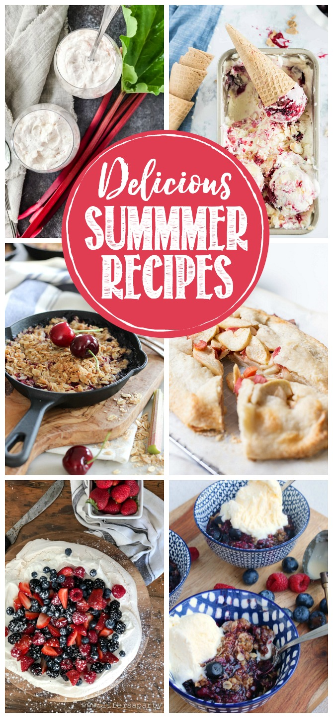 Collection of delicious summer recipes.