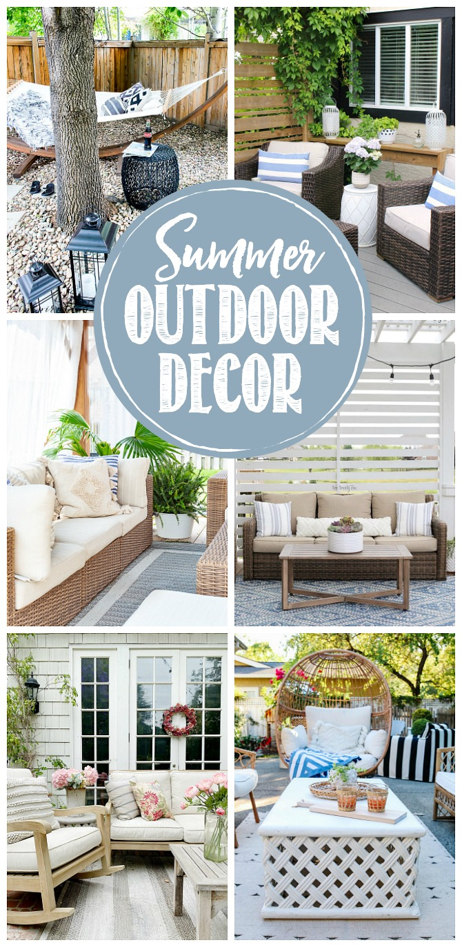 Beautiful collection of summer outdoor decor ideas.