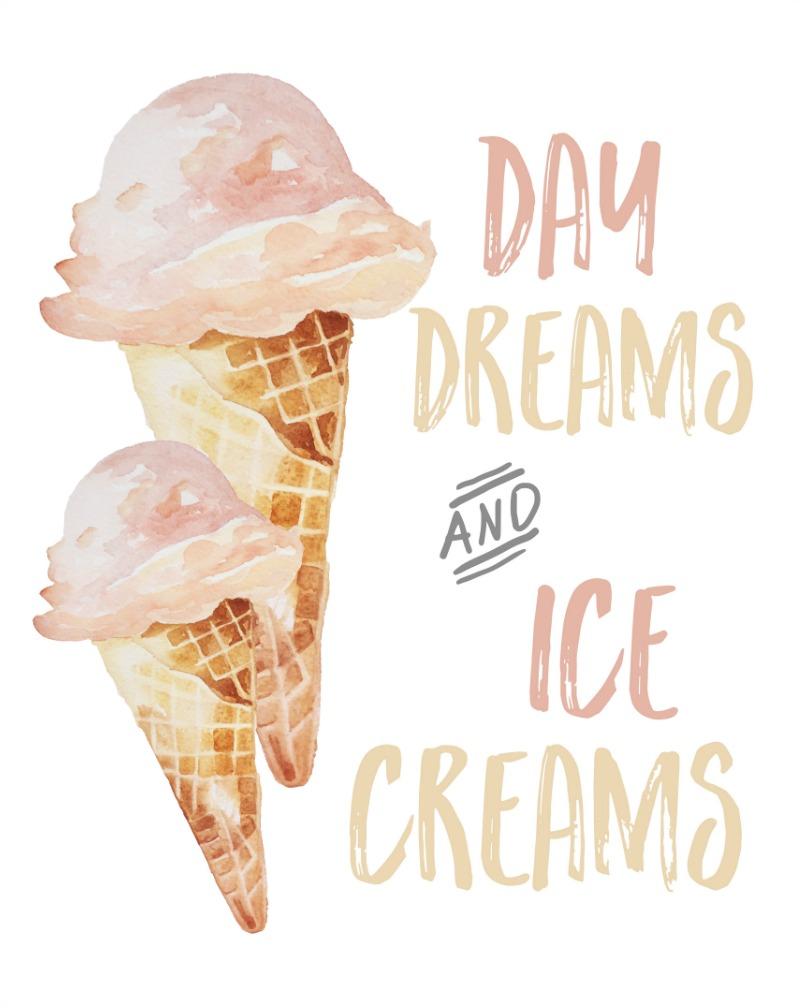 Day Dreams and Ice Creams free ice cream cone printable.