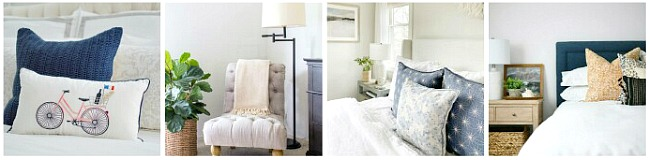 Collage of summer bedrooms.