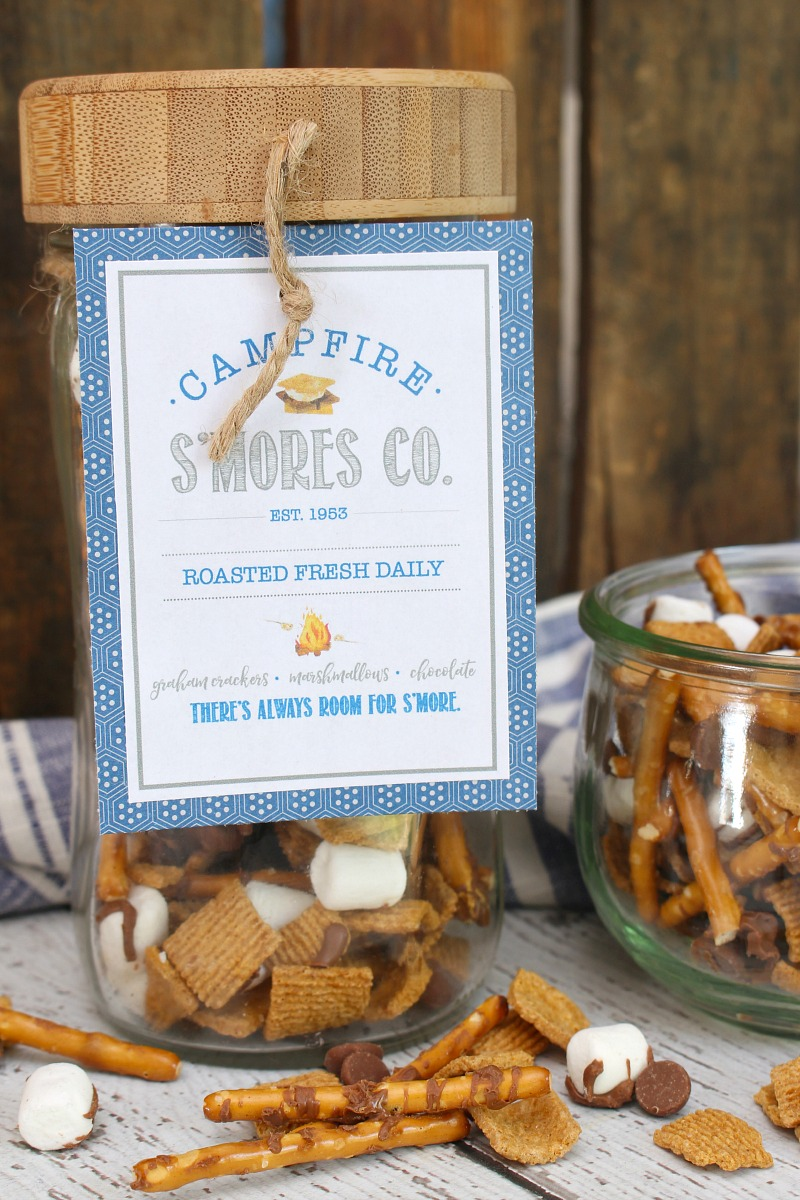Campfire S'mores Co. free printable tag.