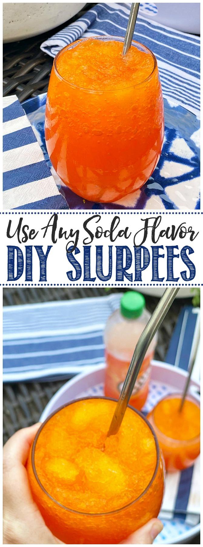 DIY slurpees made with soda.