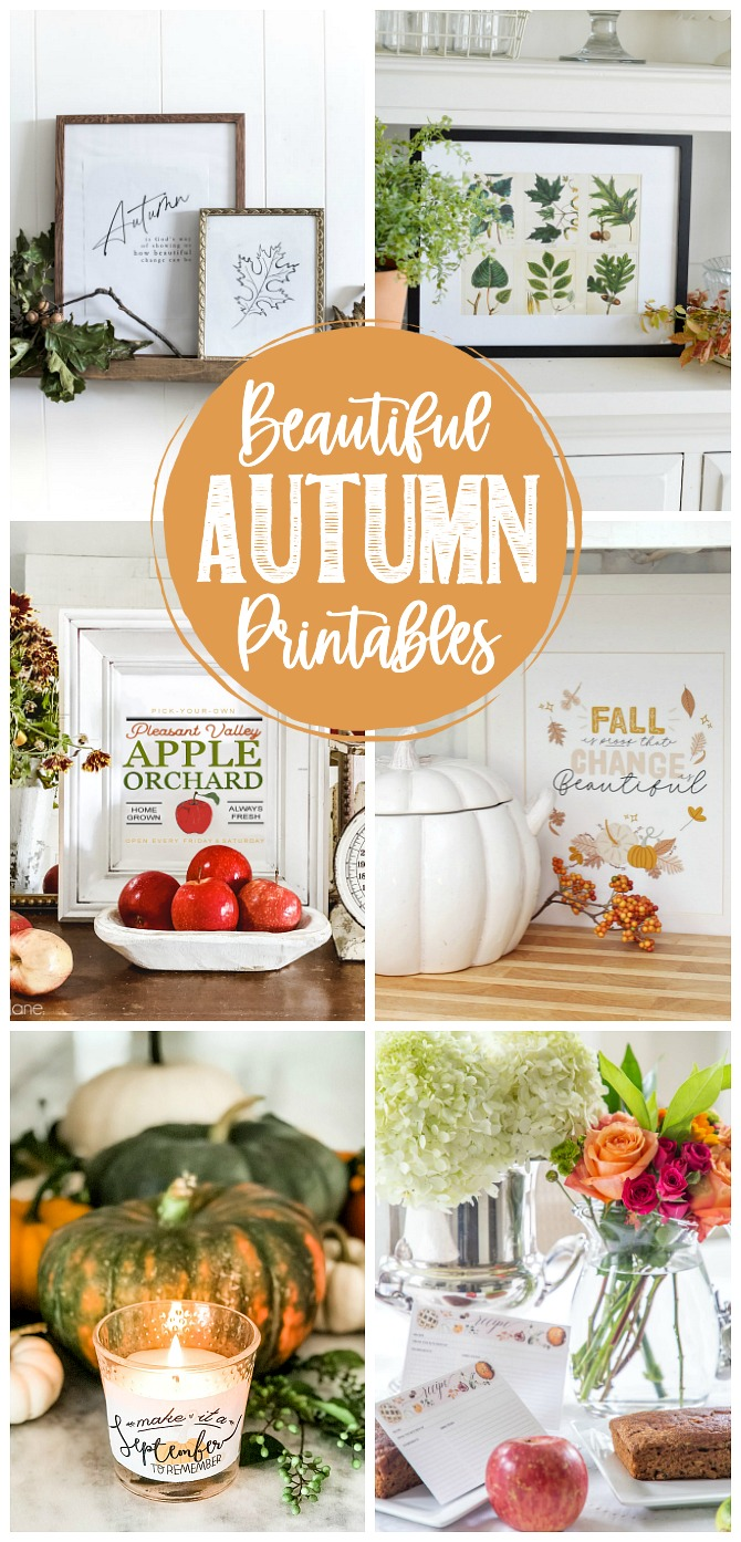 Beautiful Autumn Printables collection.