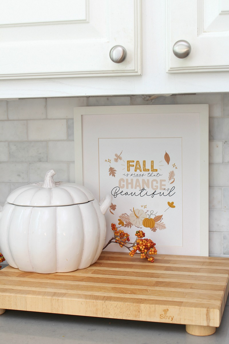 Fall is Proof that Change is Beautiful free fall printable.