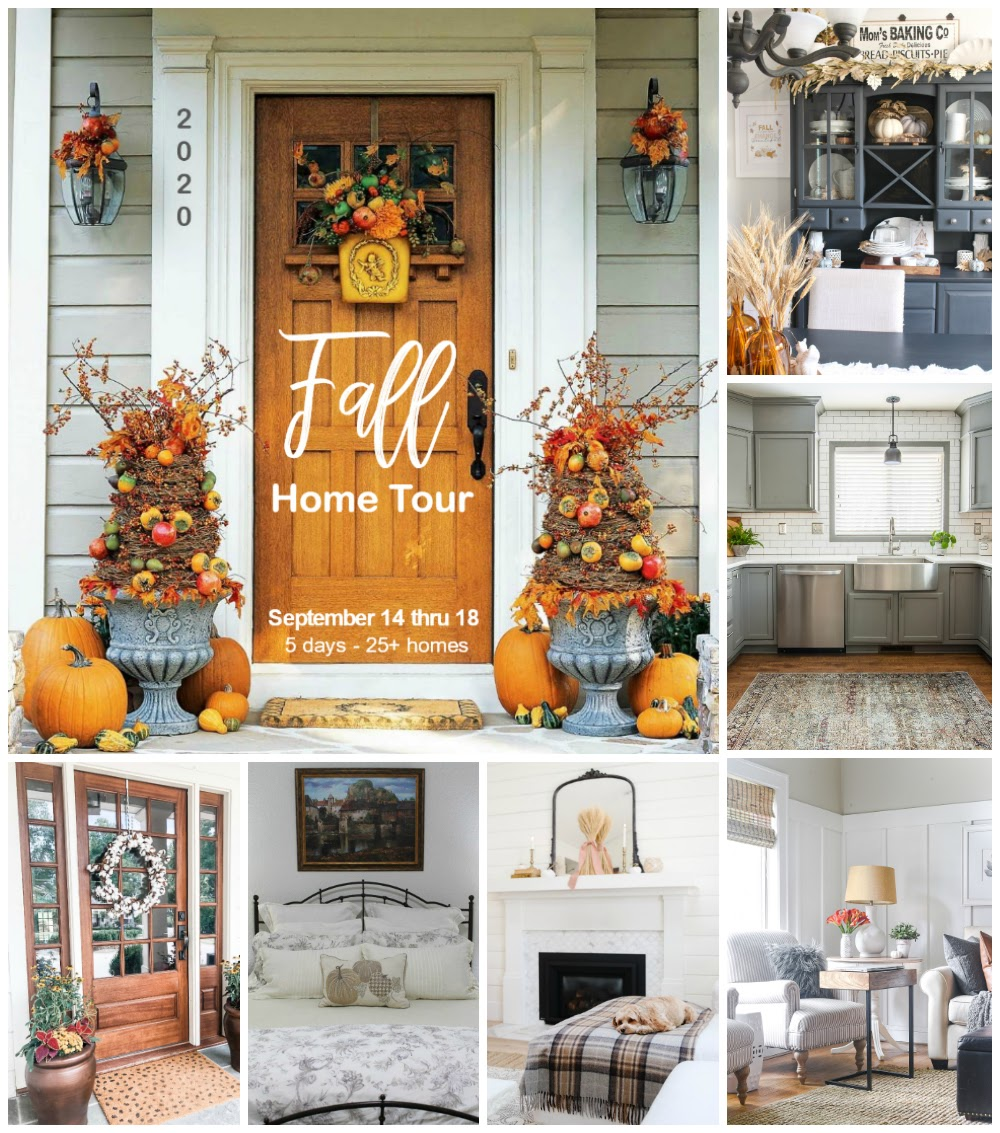 Collage of beautiful fall home tours.