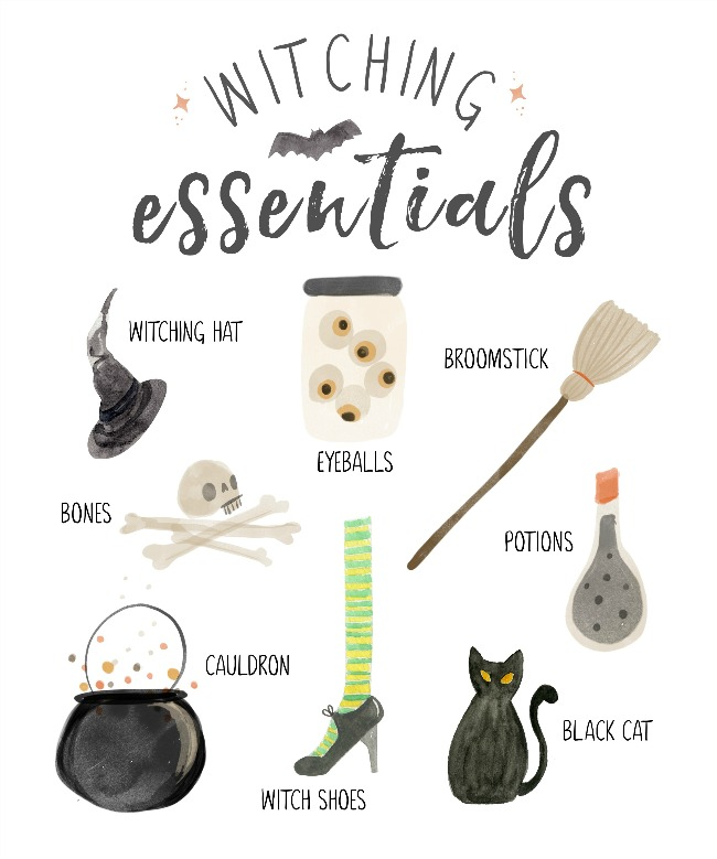 Witching Essentials free Halloween printables.