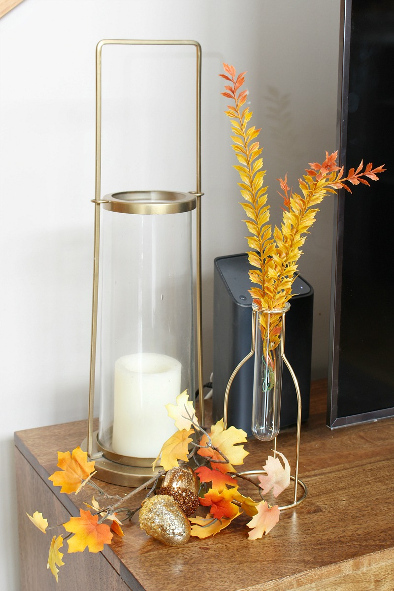Fall vignette with golden tones.