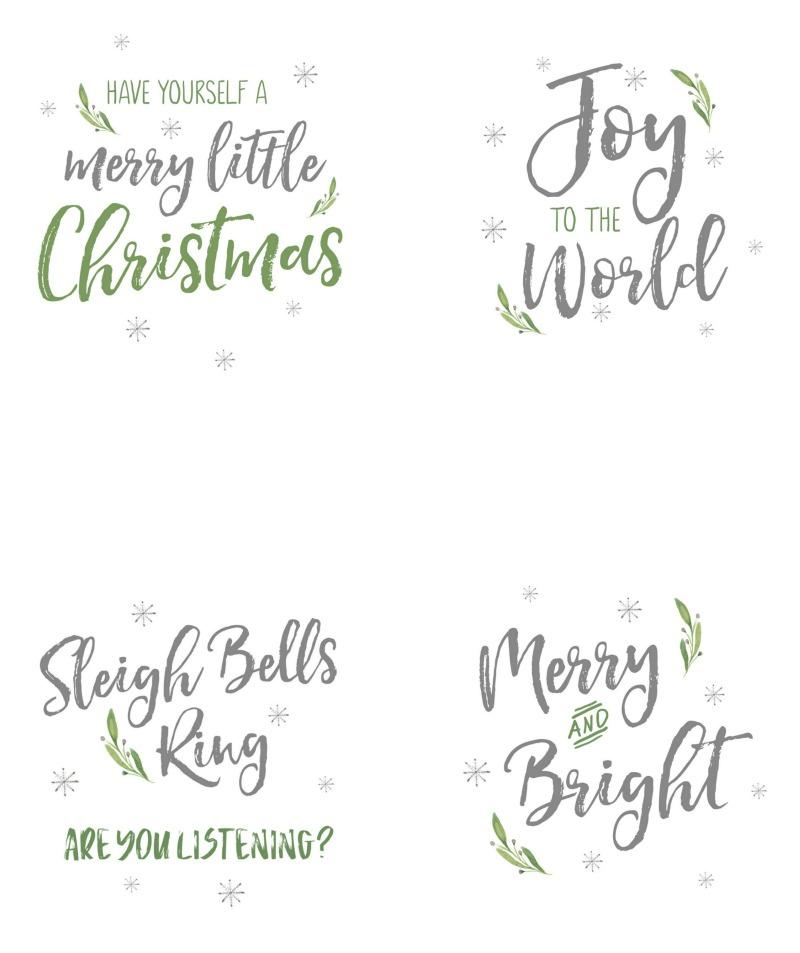 Christmas ornament free printables.