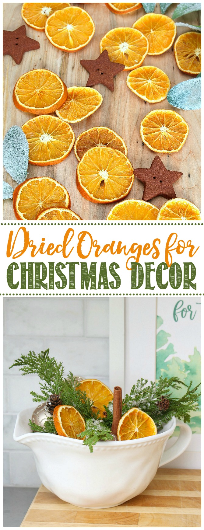 Dried orange slices for Christmas decor.