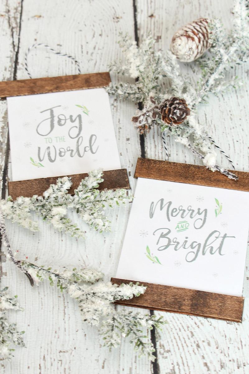 Pretty DIY Printable Christmas ornaments.