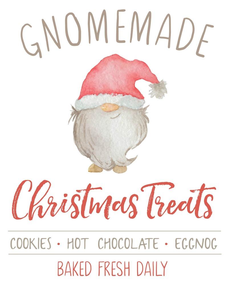 Gnomemade Christmas Treats free Christmas printable.