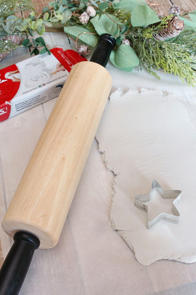Tutorial for air dry clay star lights.