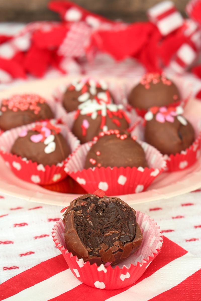 Chocolate cheesecake Oreo truffles.