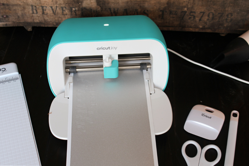 Cricut Joy cutting smart iron-on for DIY custom yoga mat.
