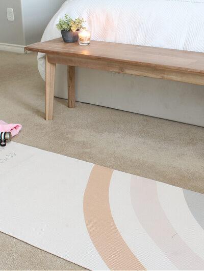 """Breathe in calmness, breathe out stress"" DIY custom yoga mat."