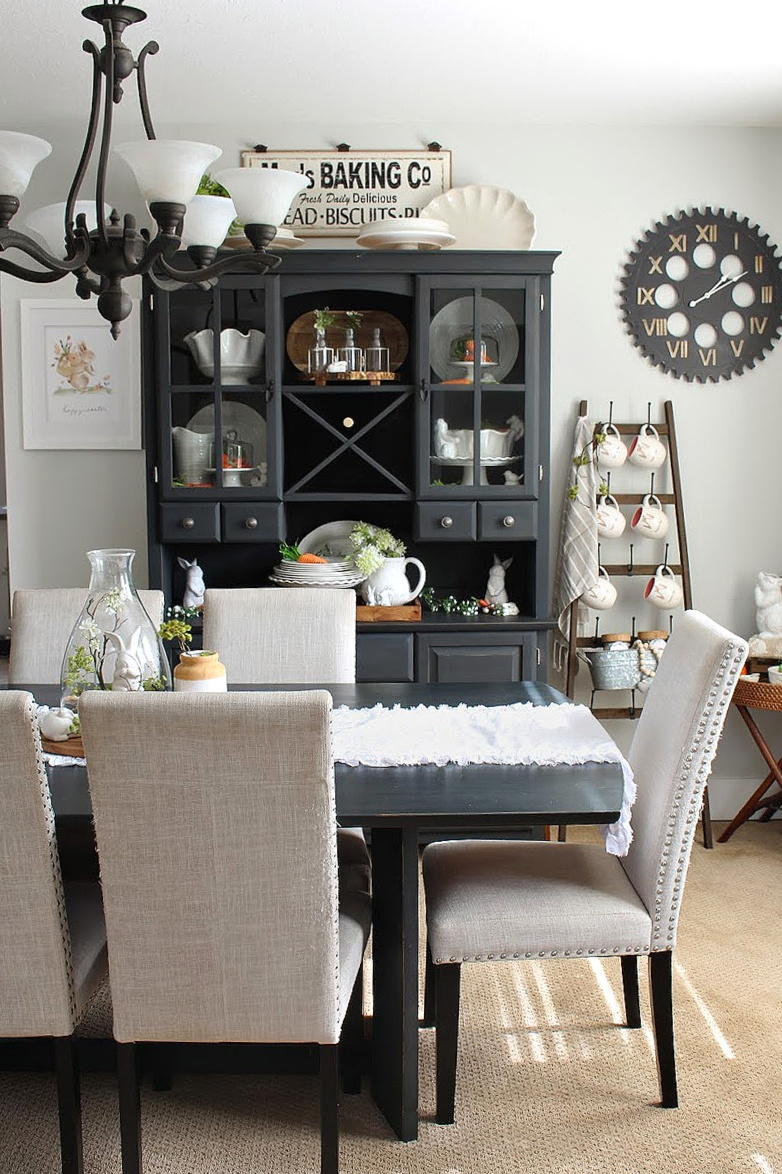Easter Dining Room Decorating Ideas, Dining Room Table And Hutch Ideas