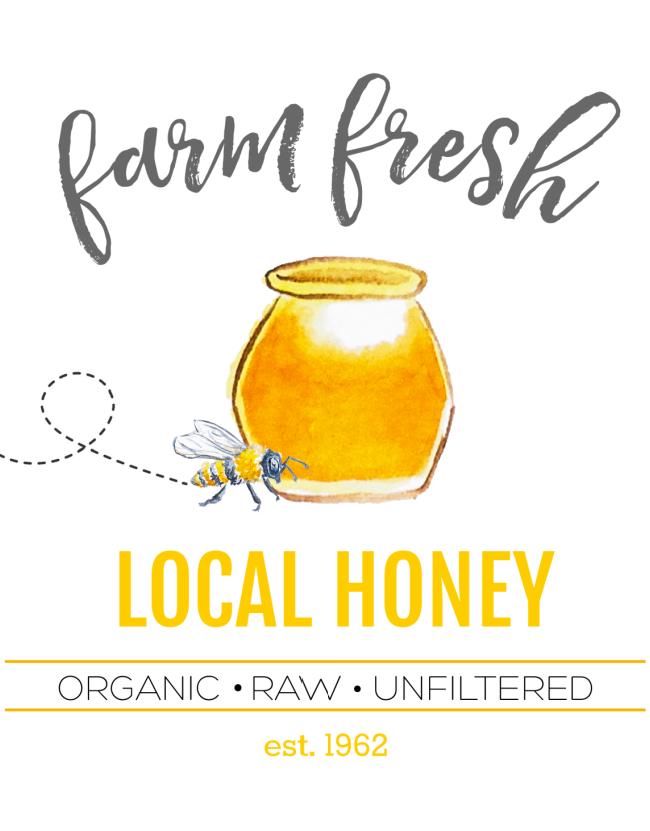 Farm Fresh Local Honey free printable.