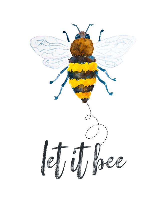 Let It Bee free printable.