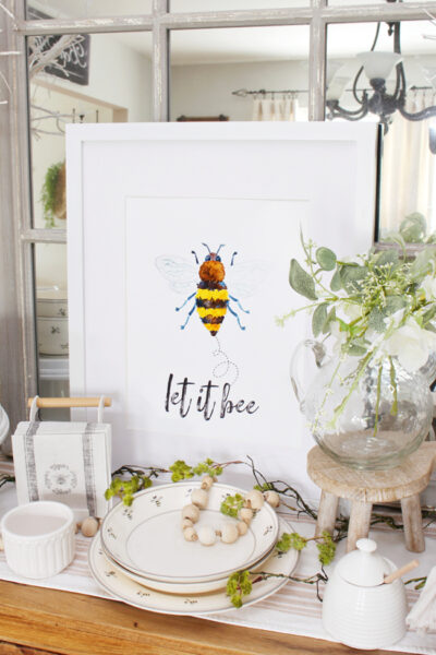 Let it Bee free bee decor printable.
