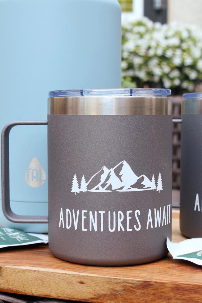 Cute custom camping mugs.
