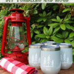 Personalized camping tumblers.