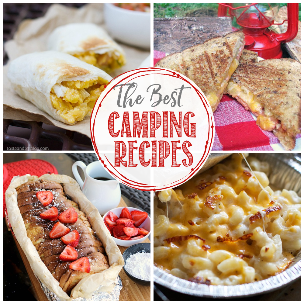 collage of best camping recipes