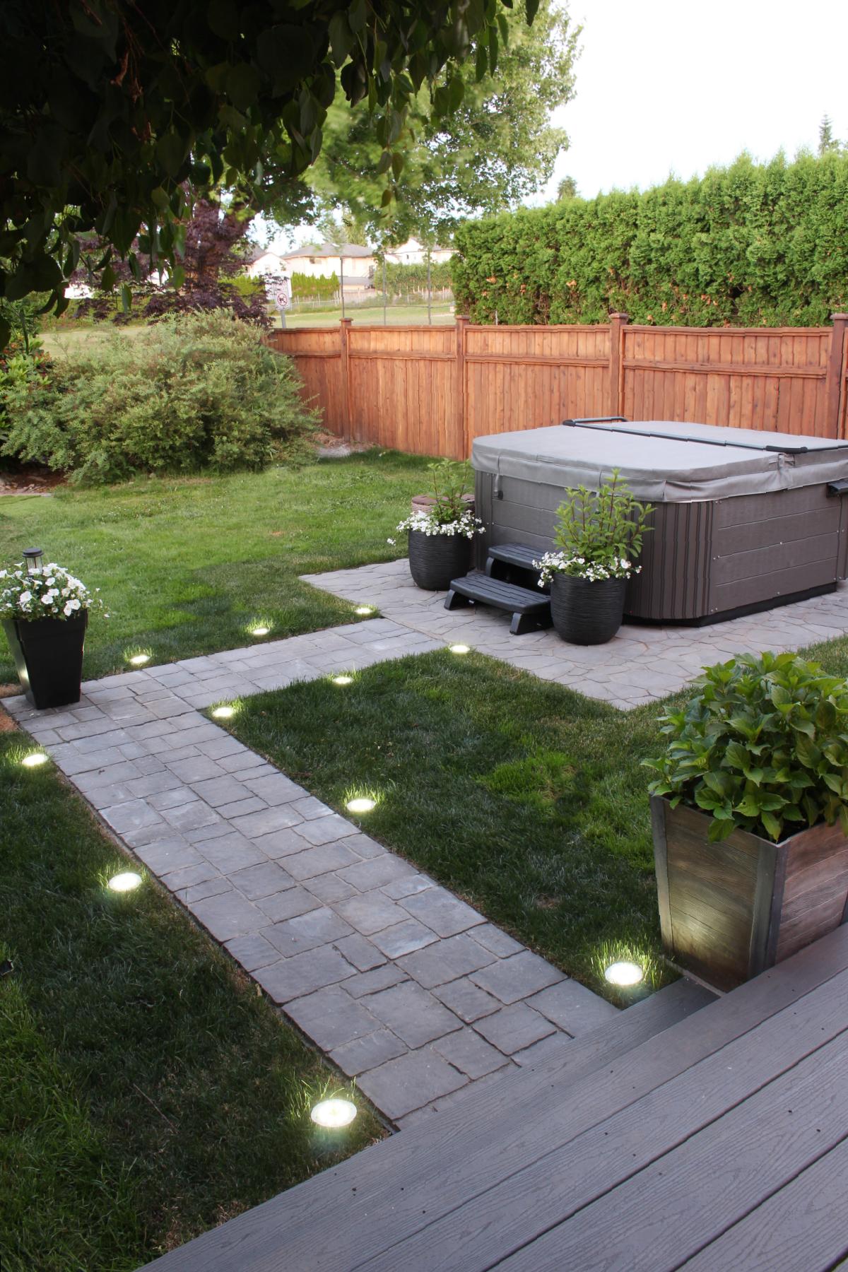 hot tub patio design
