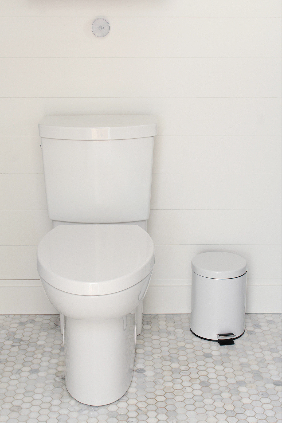 American Standard Studio toilet with touchless flush technology.