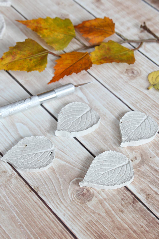Air dry clay leaves.