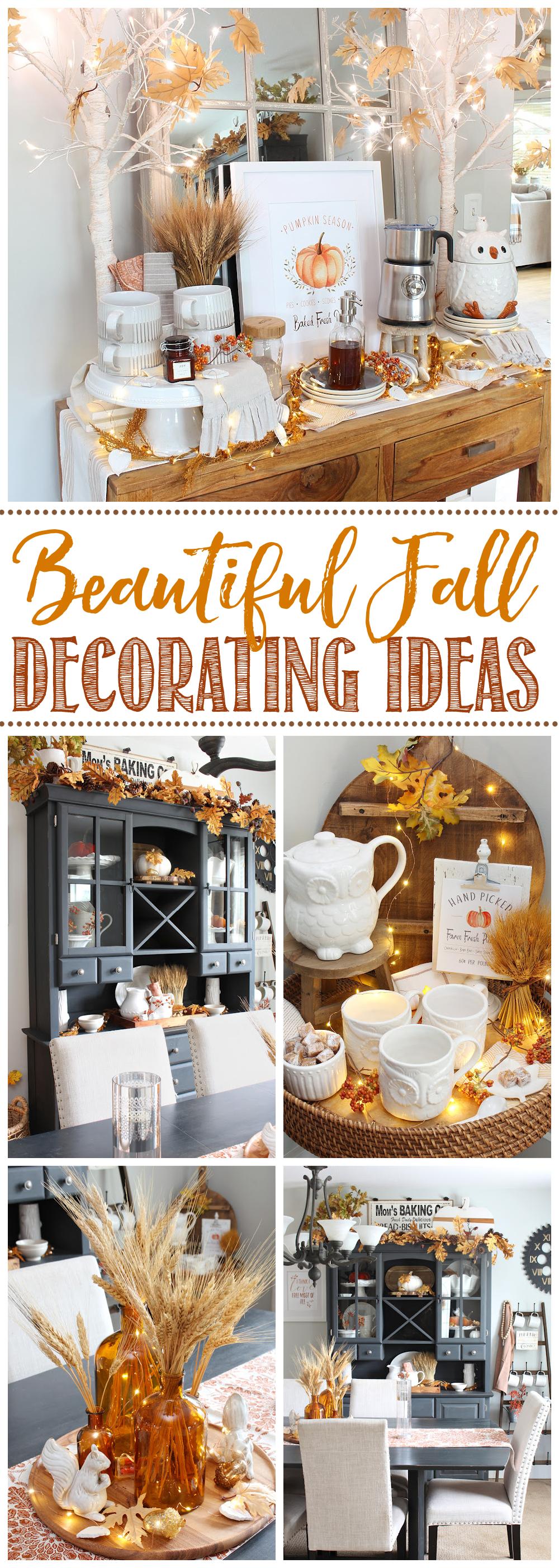 College of beautiful fall decor ideas.