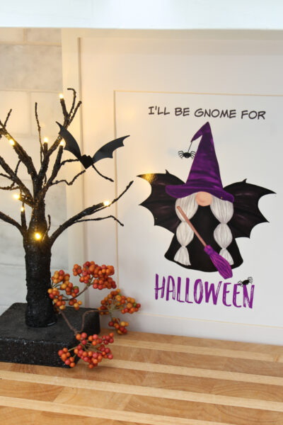 I'll Be Gnome for Halloween free Halloween gnome printable.