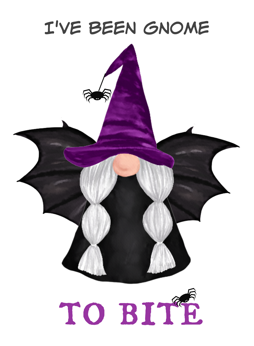I've Been Gnome to Bite free Halloween gnome printable.