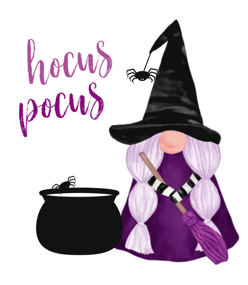 Hocus Pocus free Halloween gnome printable.