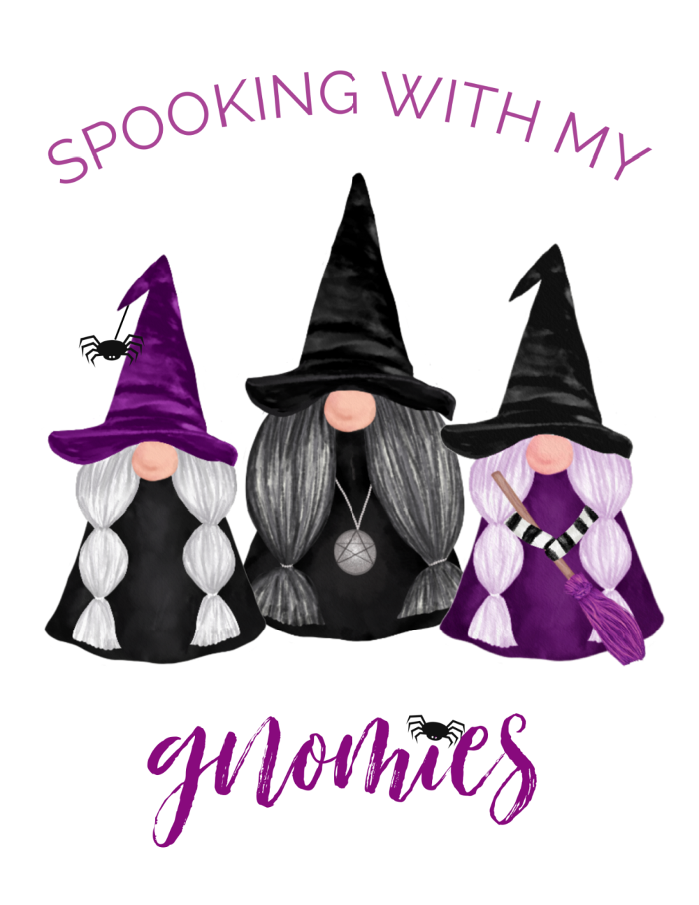 Spooking With My Gnomies free Halloween gnome printables.